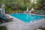 Der private Pool der Villa