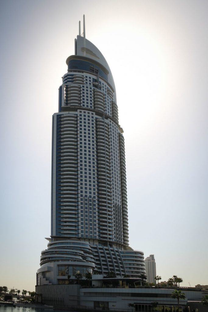 Blick auf das Hotel The Adress Downtown Dubai
