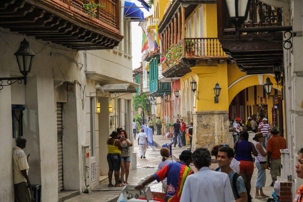 Strassenszene in Cartagena