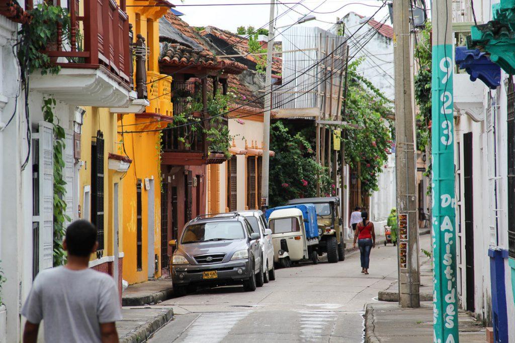 Gasse vor dem Hotel Bantu in Cartagena