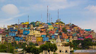 Bild von Zwei Hügel mit bunten Häuser: Santa Ana in Guayaquil