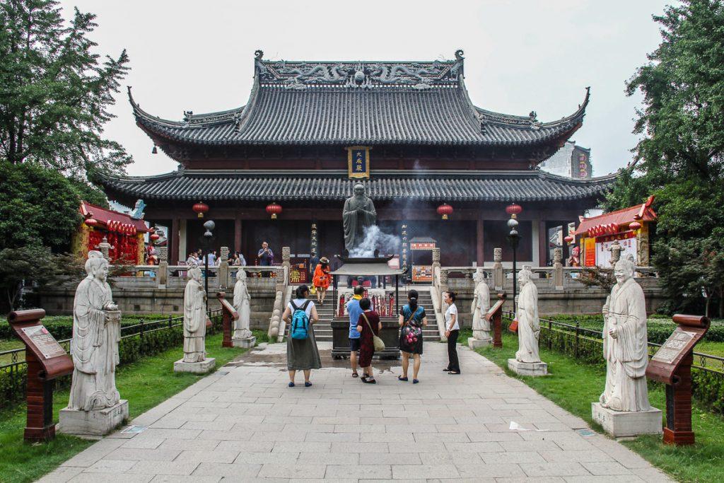 Konfuzius Tempel mit Statue