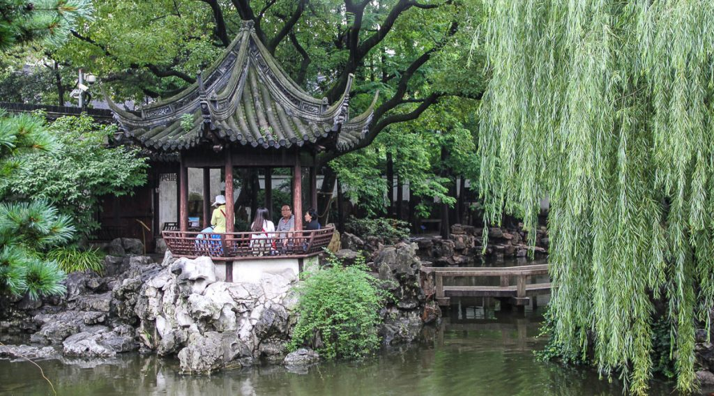 Pavillon im Yu Yuan Garden