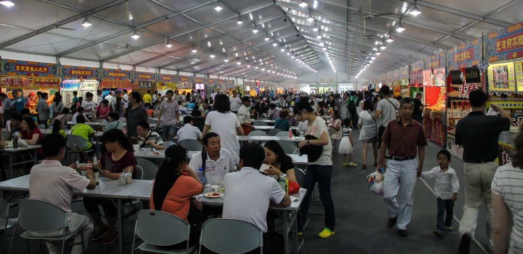 Food-Court auf dem Olympiagelände in Peking