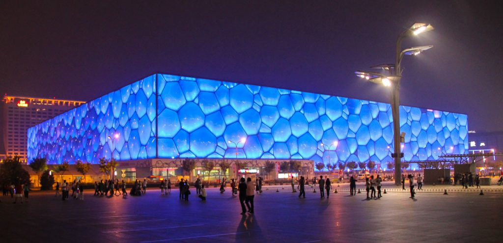 Watercube - das Nationale Schwimmzentrum in Peking