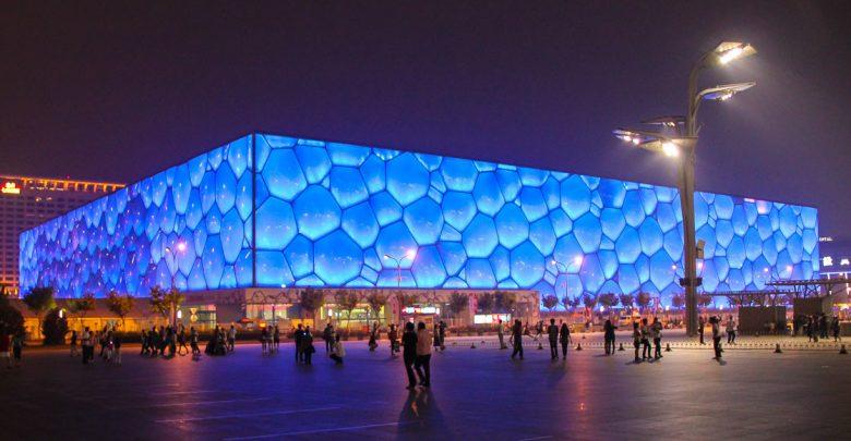 Watercube - das Nationale Schwimmzentrum in Peking