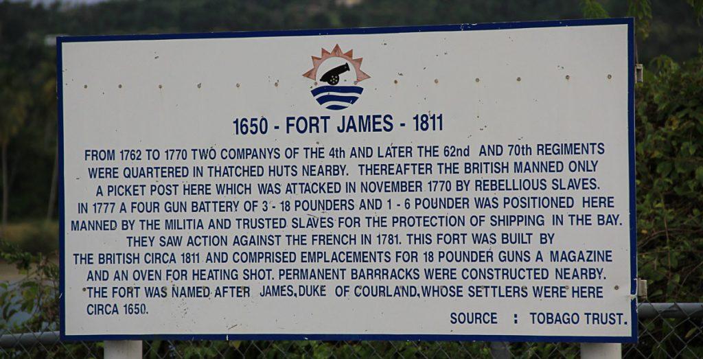Infotafel von Fort James