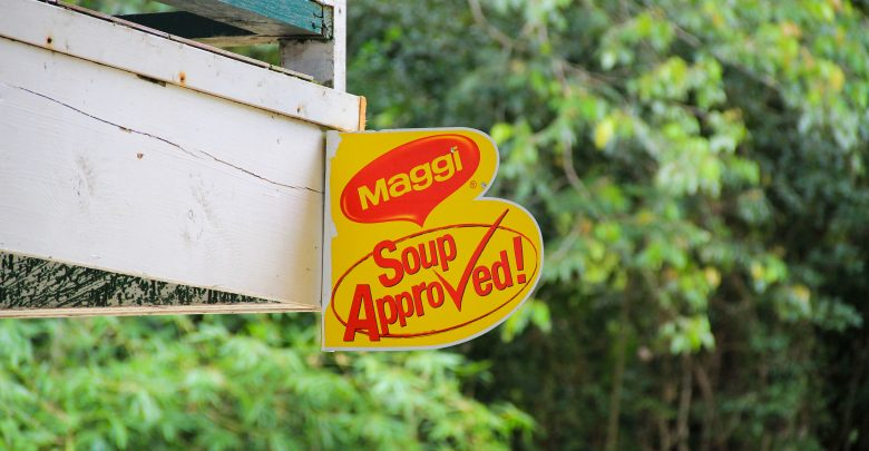 Maggi-Schild auf Tobago