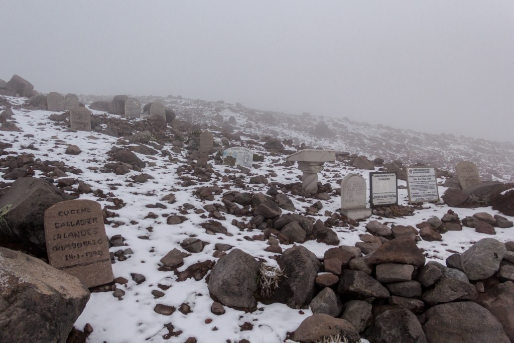 Grabsteine am Chimborazo