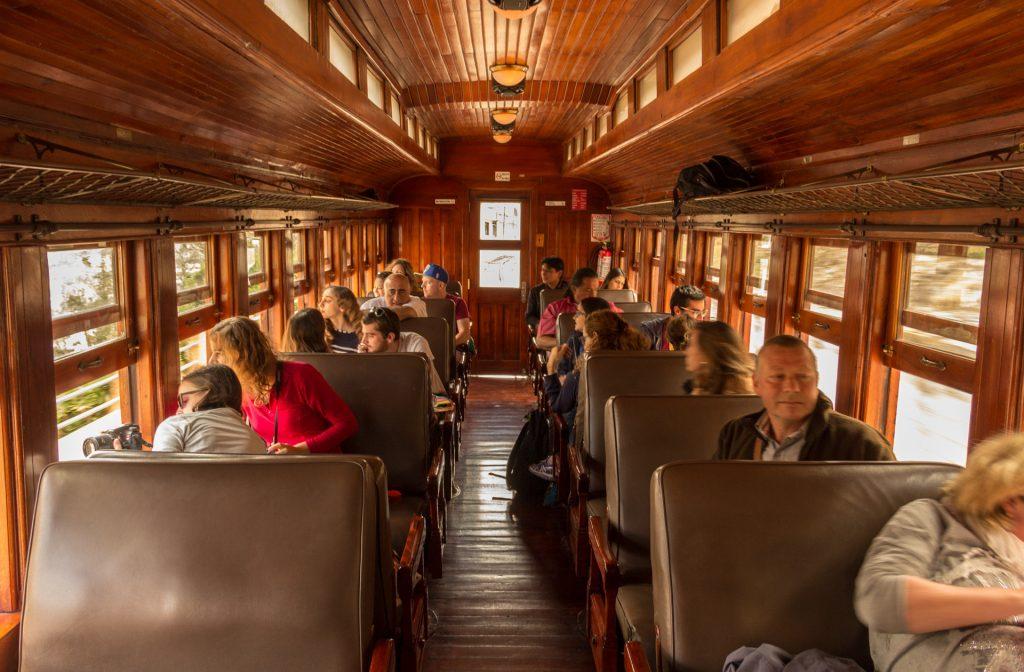 hölzerner Waggon der Tren Ecuador