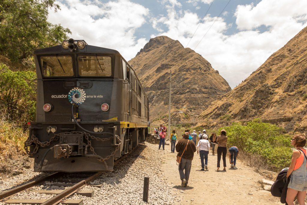 Tren Ecuador vor der Teufelsnase Nariz del Diablo