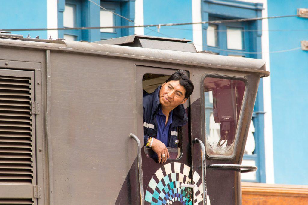 Lokführer der Tren Ecuador in Alausí