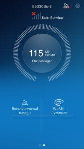 App vom Huawei E5330 3G mobile WiFi-Hotspot