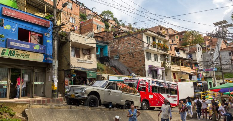 In der Comuna 2 in Medellin