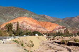 Blick auf den Cerro de los Siete Colores