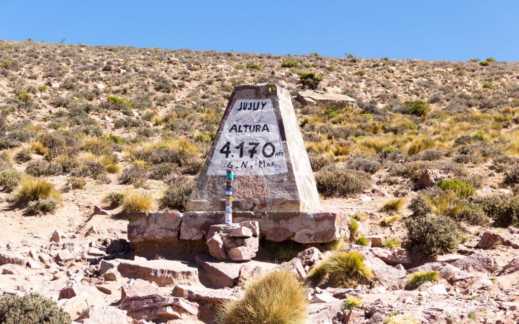 Die Passhöhe Altos del Morado