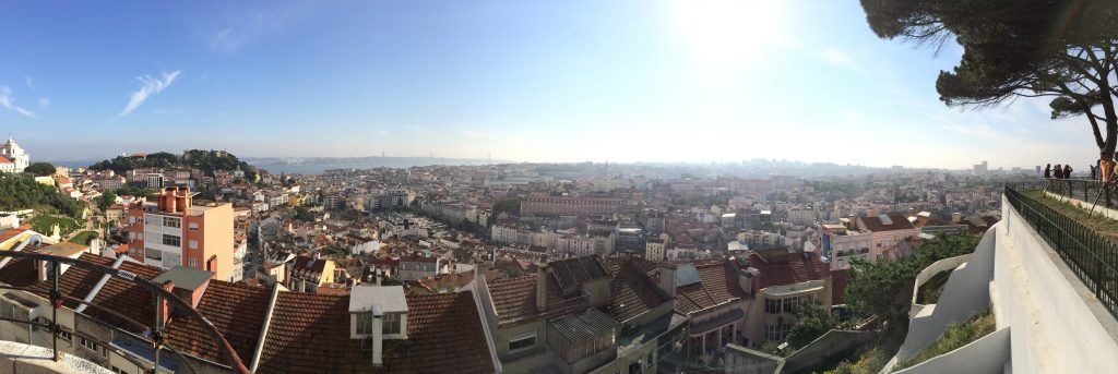 Panorama über Lissabon vom Miradouro da Senhora do Monte