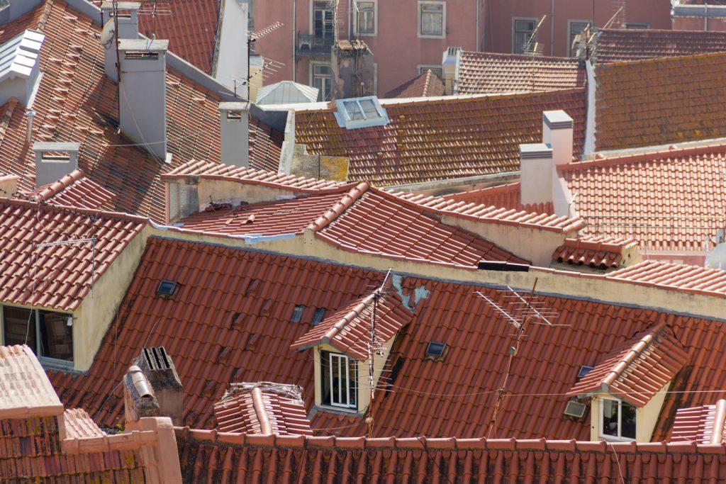 Dachstühle in Lissabon