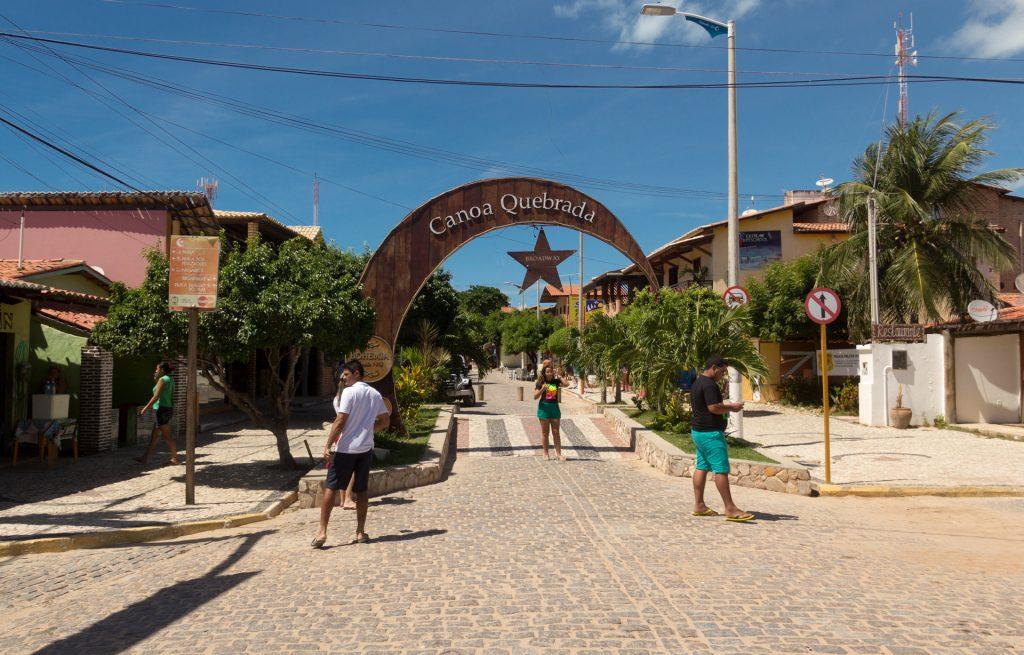 Der Broadway in Canoa Quebrada