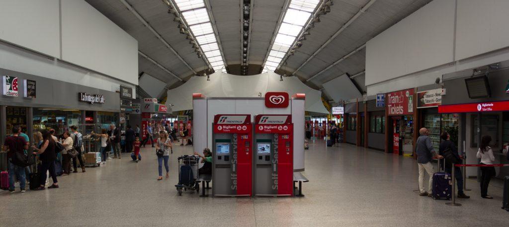 Bahnhof Fiumicino - extrem übersichtlich!