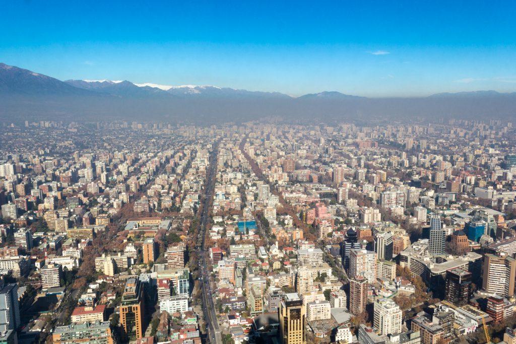 Sky Costanera - Blick über Santiago de Chile