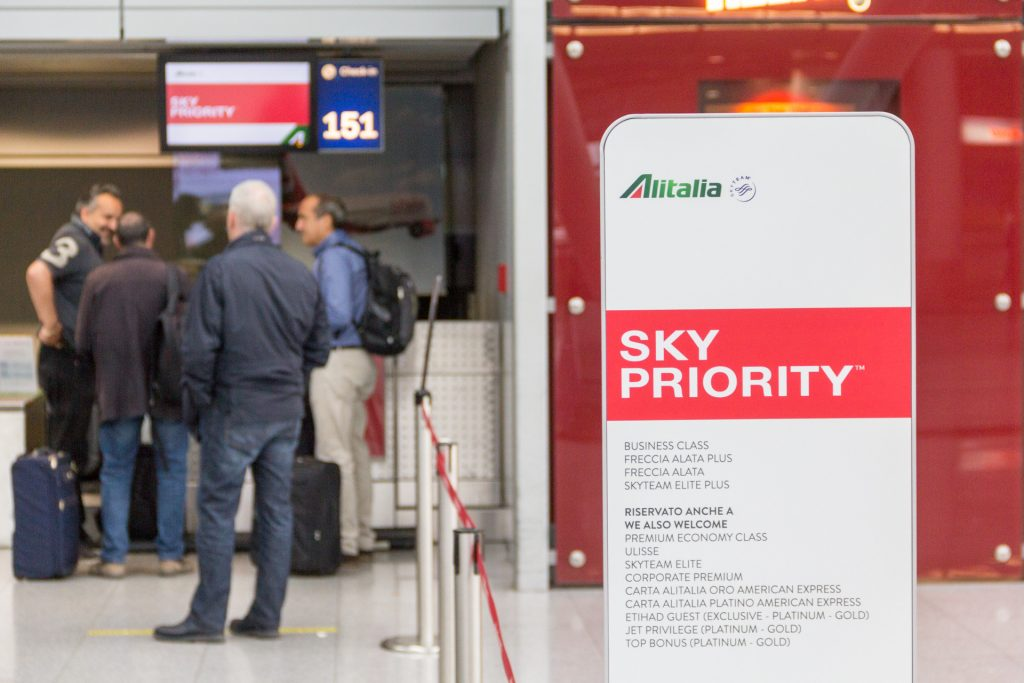 Sky Priority Check-In in Düsseldorf