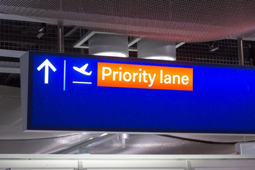 Priority Lane am Flughafen Düsseldorf