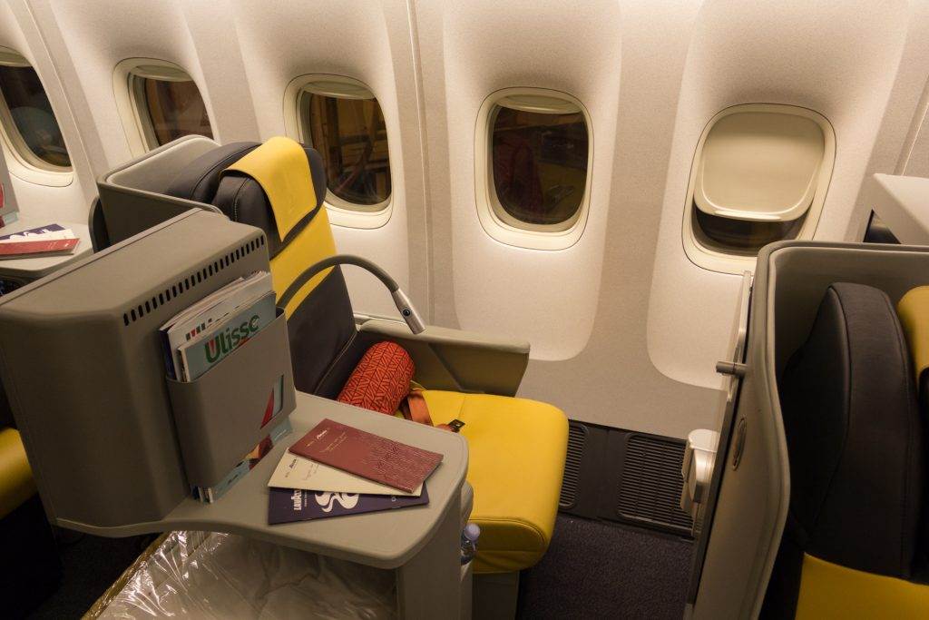 Fensterplatz in der neuen Alitalia Business-Class