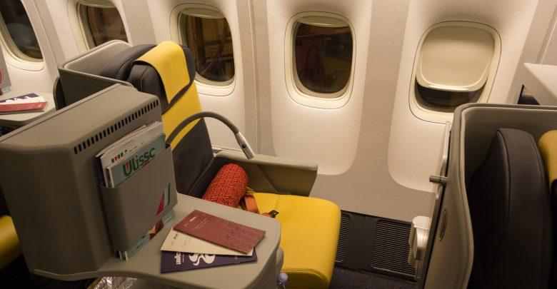 Fensterplatz in der neuen Alitalia Business-Class