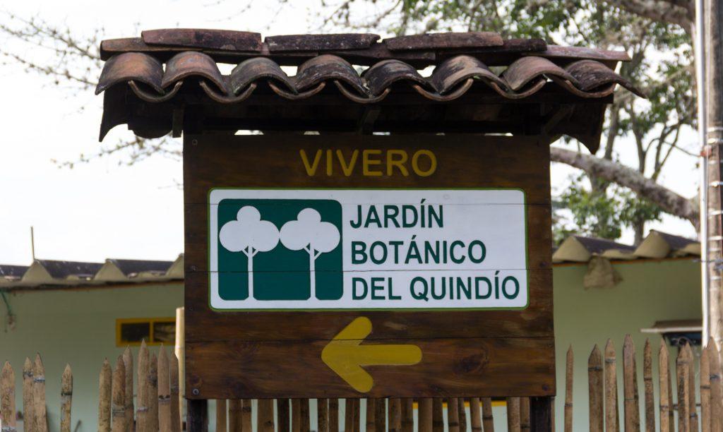 Eingang zum botanischen Garten von Quindio
