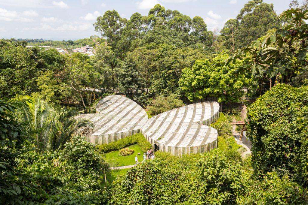 Mariposario / Schmetterlingshaus im botanischen Garten von Quindío