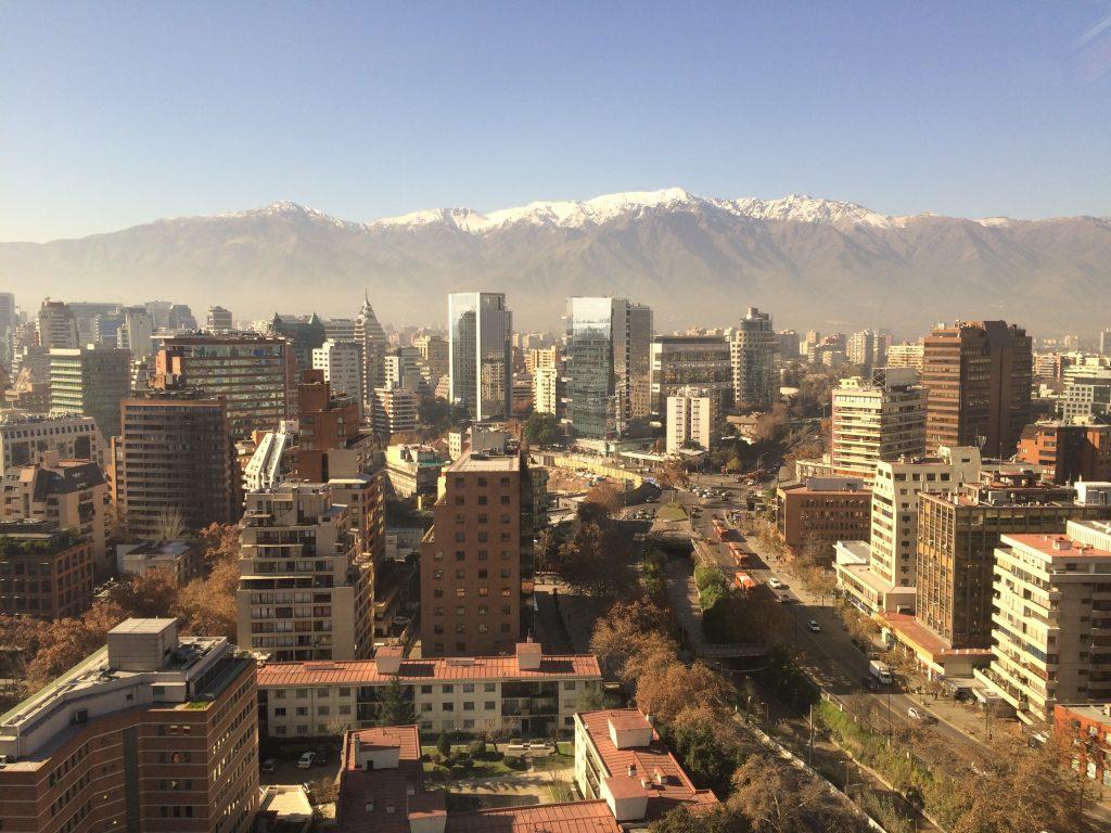 Blick aus der 14ten Etage aus dem Hotel NH Collection Plaza Santiago
