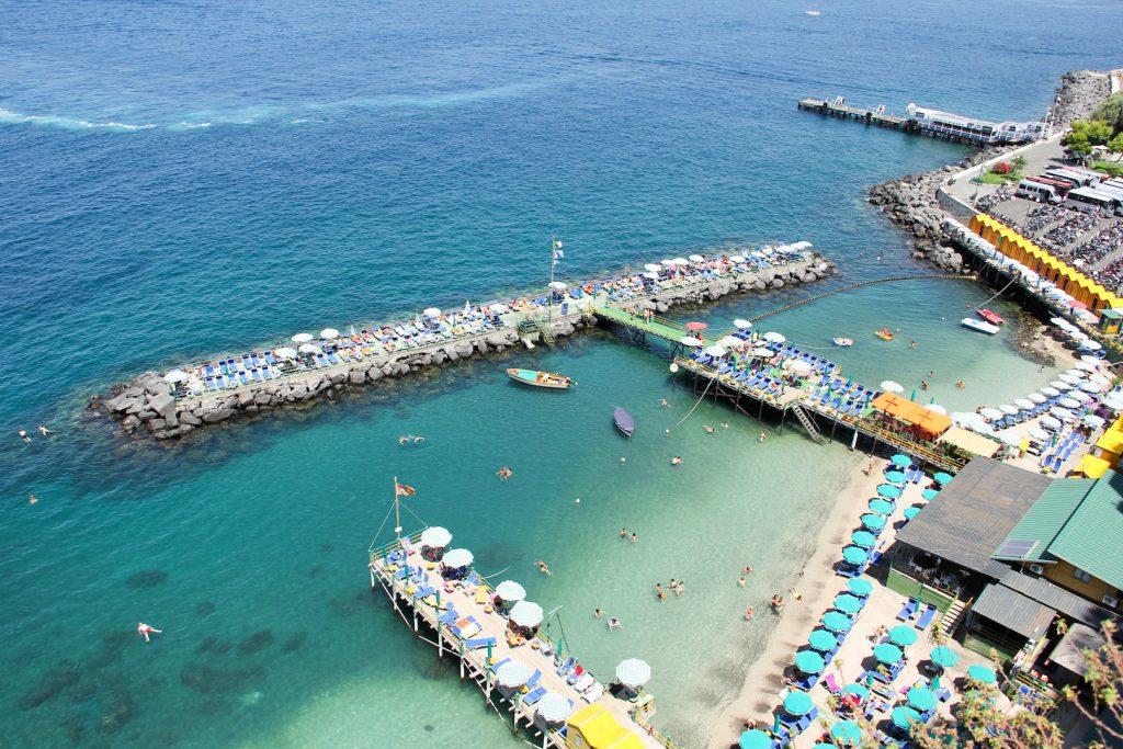 Strand von Marina Piccola in Sorrent