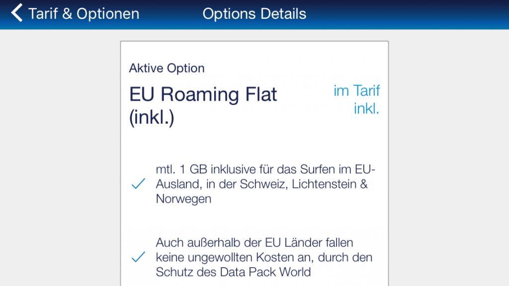 EU Roaming Flat bei o2