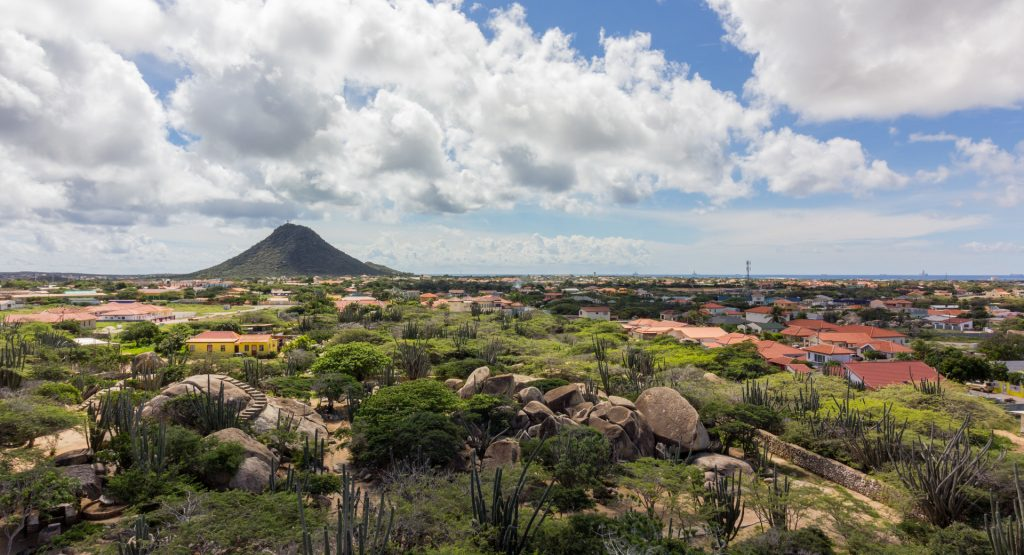 Blick vom Casibari Rock in Richtung Hooiberg
