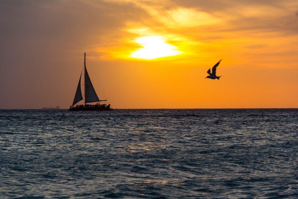 Ein perfekter Sonnenuntergang im Divi Resort auf Aruba