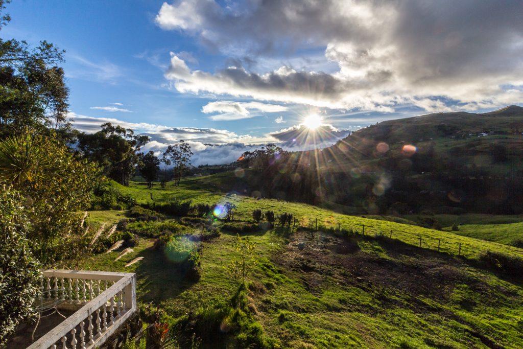 Sonnenuntergang in der Posada Ingapirca