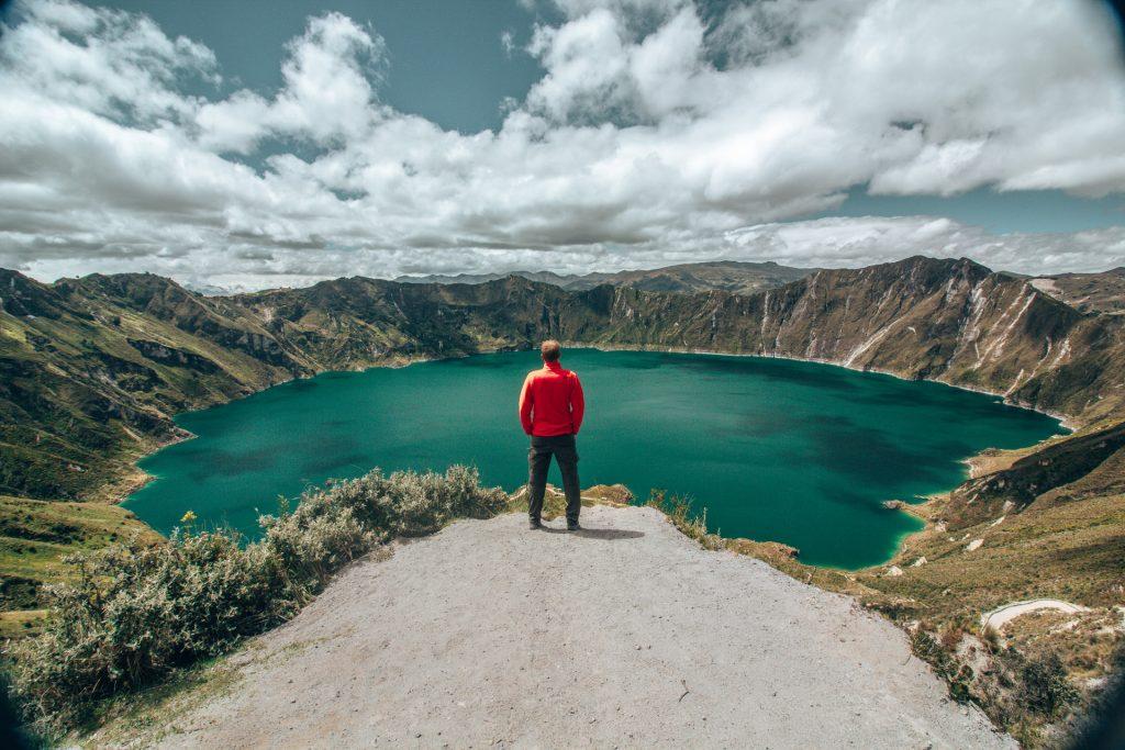 Die Quilotoa Lagune als Instagram Motiv