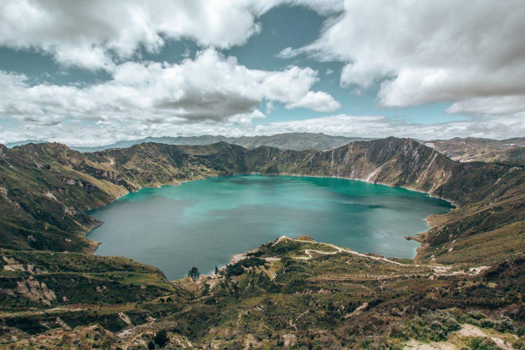 Die Quilotoa Lagune in Ecuador