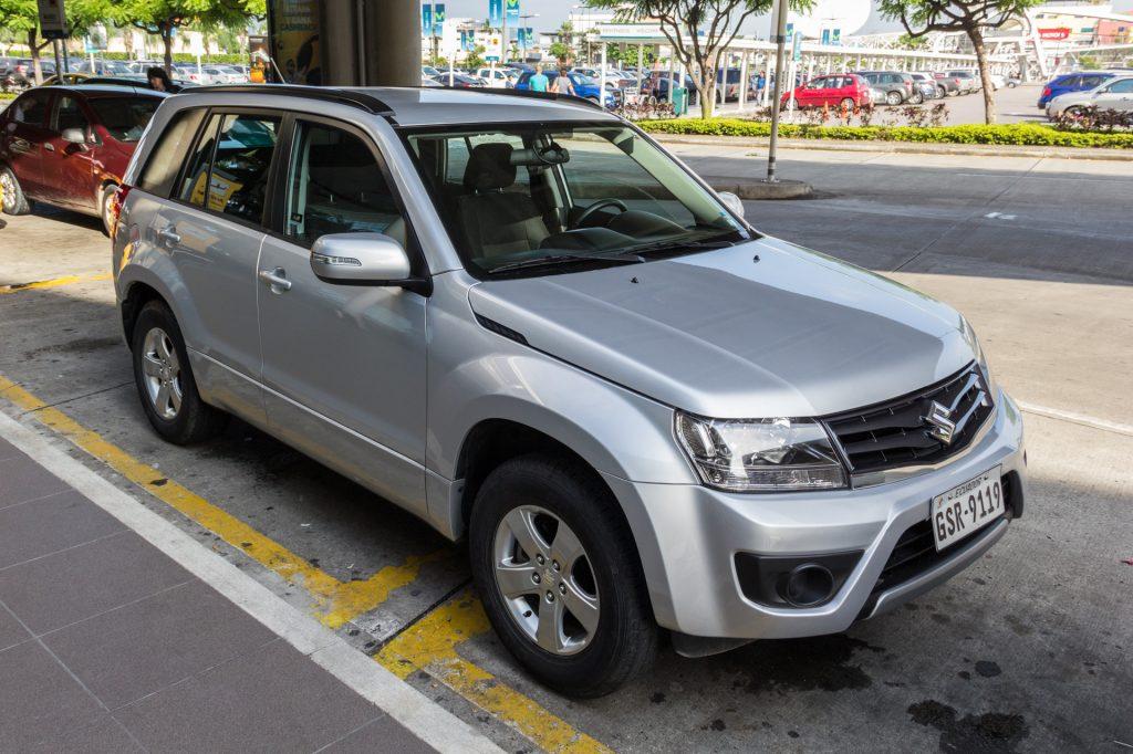 Unser Mietwagen in Ecuador - ein Suzuki Grand Vitara