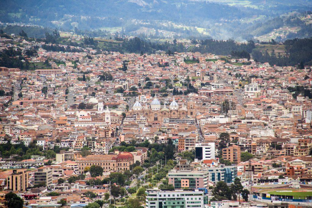 Blick vom Mirador Turi über Cuenca