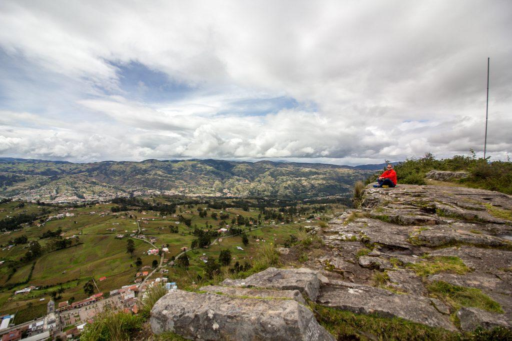 Blick vom Cojitambo über die Landschaft