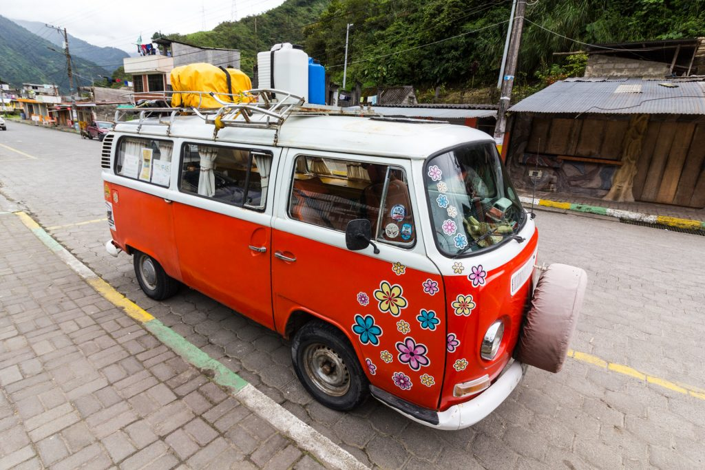 alter VW Bulli in Ecuador