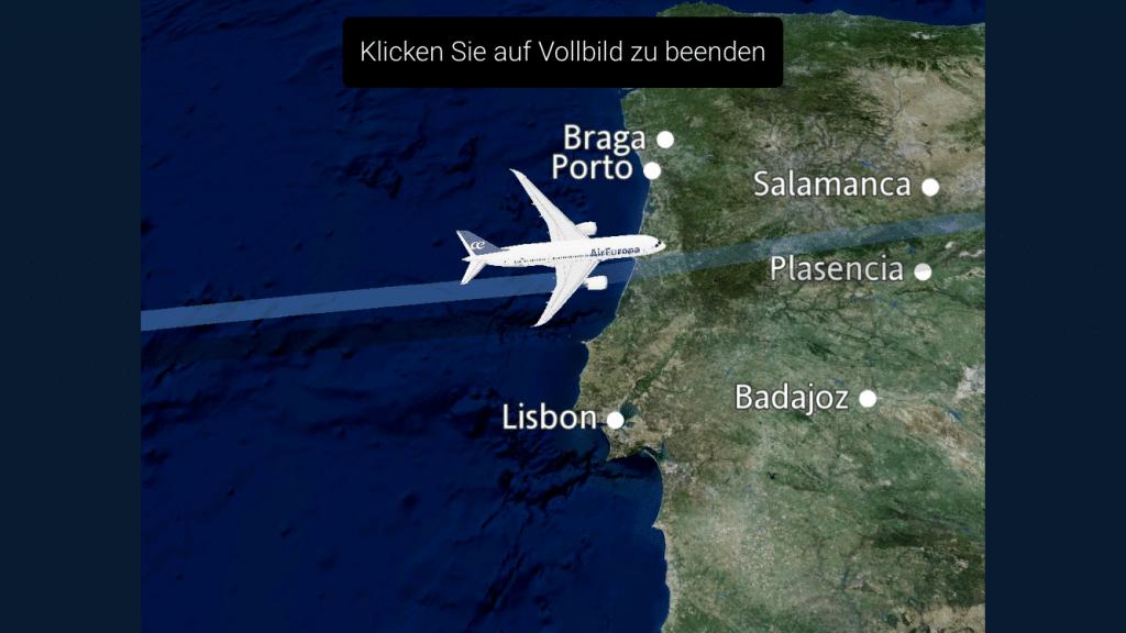 Flugübersicht in der Air Europa App