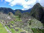 Blick über die Ruinen von Machu Picchu