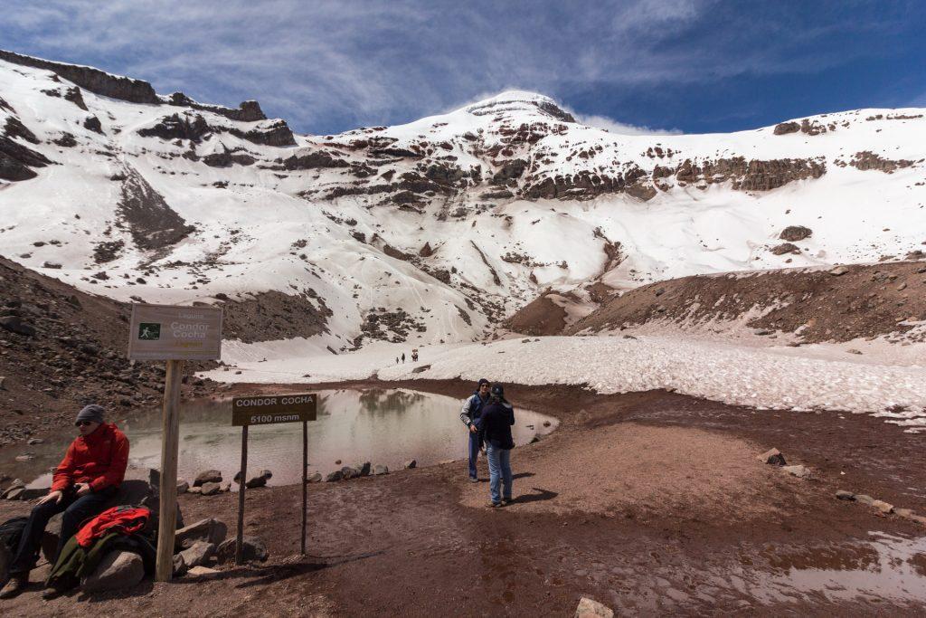 Die Condor Cocha Lagune am Chimborazo - 5100 meter