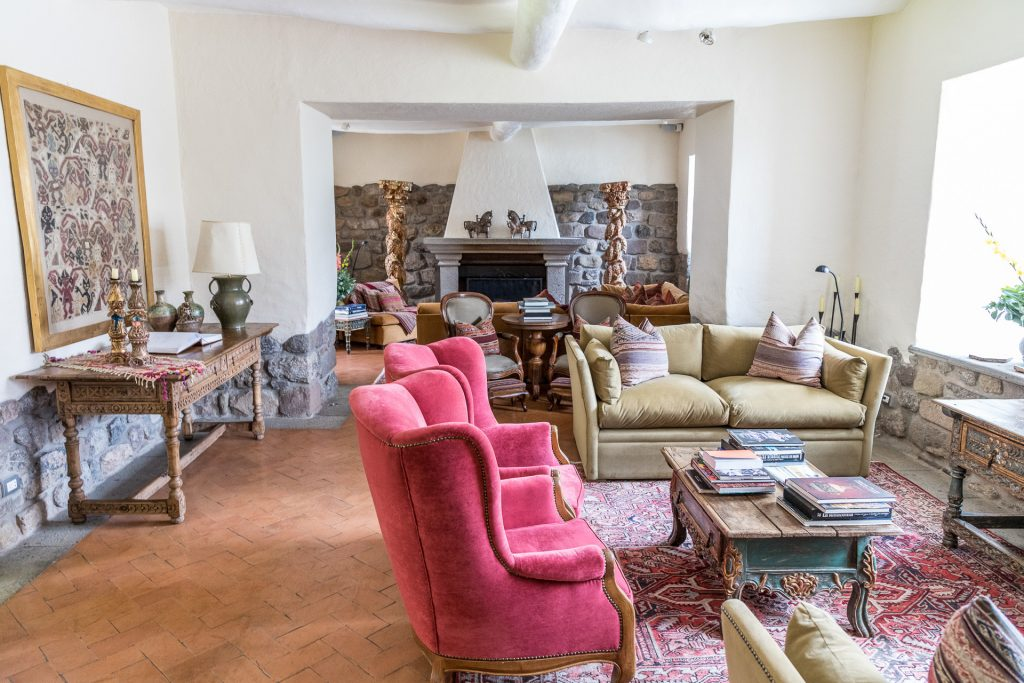Wohnzimmer / Lounge / Lobby im Hotel Inkaterra La Casona