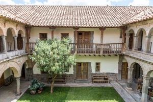 Blick in den Innenhof vom Hotel Inkaterra La Casona