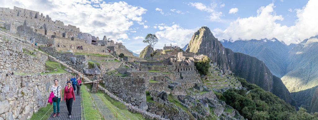 Panorama von Machu Picchu