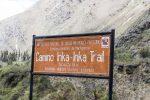 Beginn des berühmten Inca Trails